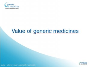 The value of generic medicines